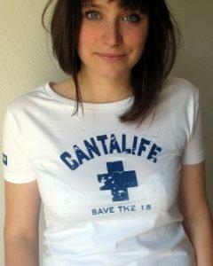 Tee-shirt Classic vintage Blanc/Marine