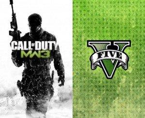 Call of Duty Modern Warfare 3 et Grand Theft Auto 5
