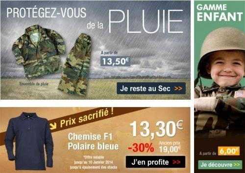 Promo Surplus militaire