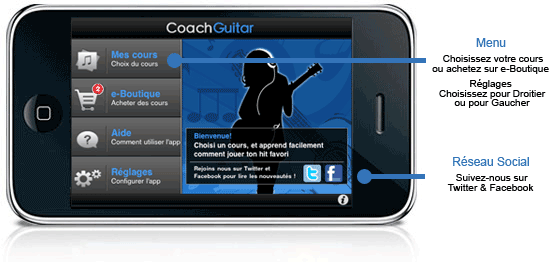 Fonctionnement de Coach Guitar