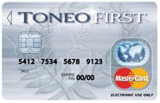 La carte MasterCard Toneo First