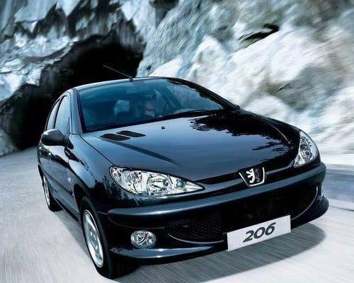 Coque de clé Peugeot 206