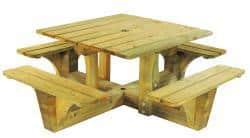 Table de pique nique en bois à poser