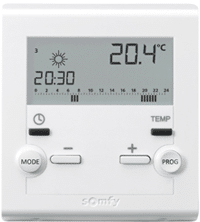 test du thermostat d 39 ambiance programmable sans fil somfy. Black Bedroom Furniture Sets. Home Design Ideas