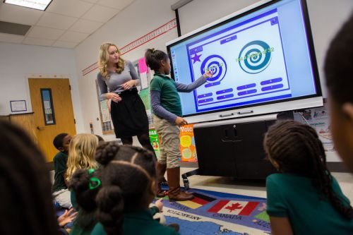 écrans interactifs dans les écoles